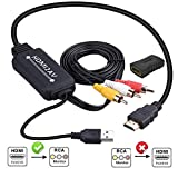 HDMI to RCA Converter, HDMI to RCA Cable, 1080P HDMI to AV Adapter Cable Supports NTSC for Amazon Fire Stick, Roku, Chromecast, Apple TV, PC, Laptop, Xbox, HDTV, DVD Etc