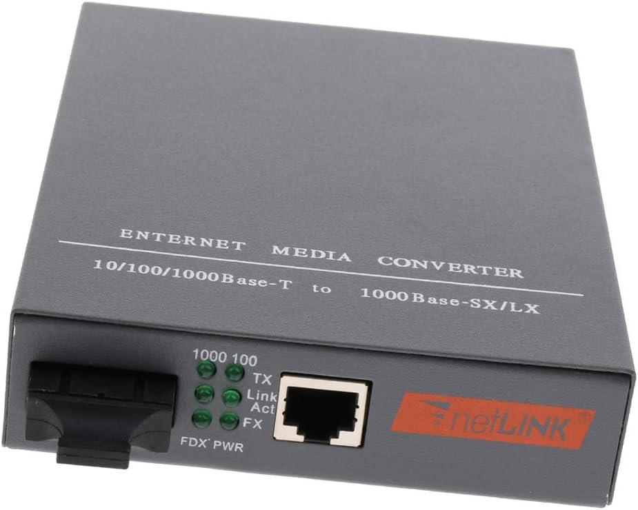 Gazechimp Convertidor De Medios Ethernet De Fibra Dual SC Multimodo Transceptor De Fibra /óptica De 1000Mb S Instalar Internamente