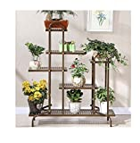 AIDELAI Garden art flower seating living room balcony square green rose pots Patio Garden Pergolas ( Color : Brown , Style : E )