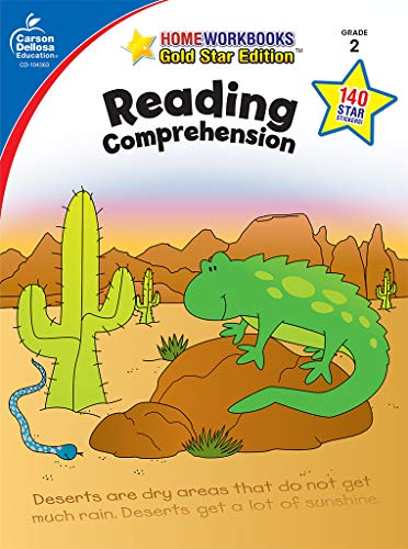 Reading Comprehension, Grade 2: Gold Star Edition (Home Workbooks)