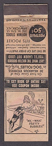 Hoffman Studios 250 W 57th St New York NY matchcover What Pretty - York St New 57th