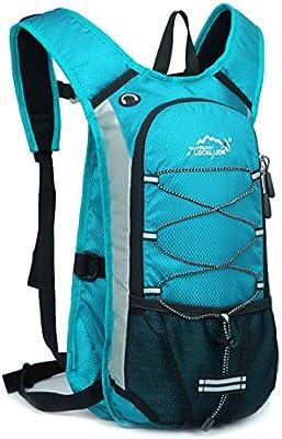 MERRYHE 12L Ciclismo Mochila Bicicleta Mochila Escalada De Camping Hidratación En Bicicleta Mochilas De Esquí Al Aire Libre De Fitness Correr Trekking Senderismo Bolsas para Unisex,Blue-12L: Amazon.es: Deportes y aire libre