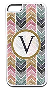 V-Glitter-Look Monogram-Soft White Rubber Snap - On Case -APPLE IPHONE 6 PLUS ONLY Great Quality!