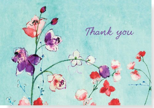 Fuchsia Blooms Thank You Notes (Stationery, Note Cards, Boxed Cards)