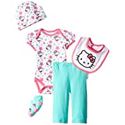 Hello Kitty Baby Girls' Baby Gift Set, Turquoise, 0-6 Months