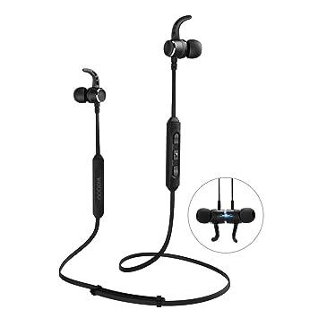 Inalámbrica Bluetooth Auriculares de Diadema magnético Auriculares in-Ear con micrófono Control de Volumen,
