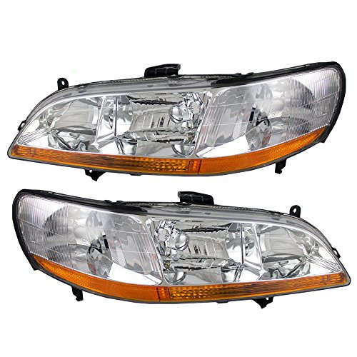 Driver and Passenger Headlights Headlamps Replacement for Honda 33151-S84-A01 33101-S84-A01 (1999 Honda Accord Headlights)