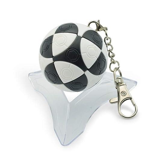 Wq zxc Cubo De Rubik Blanco Y Negro Llavero De Fútbol Cubo ...