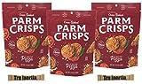 ParmCrisps Brick Oven Pizza Cheese Crisps - Keto Friendly, Gluten Free, 1.75 Ounce Bag Pack of 3 with Tru Inertia Sugar