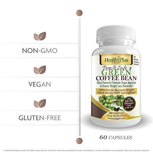 Health Plus Prime Green Coffee Bean Extract, All Natural ...