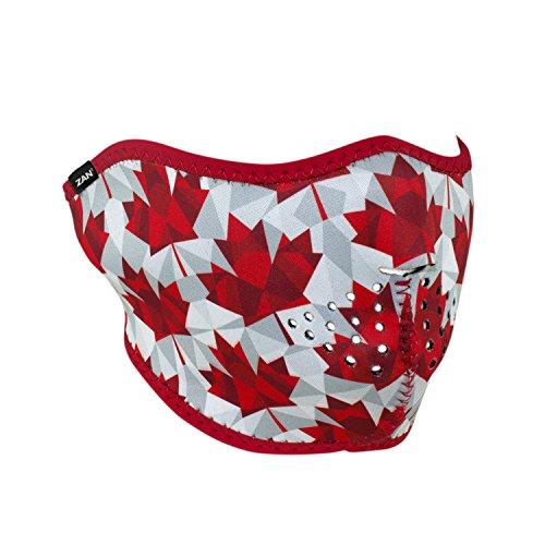 Zanheadgear WNFM139H Neoprene Half Face Mask, Canadian Pride -