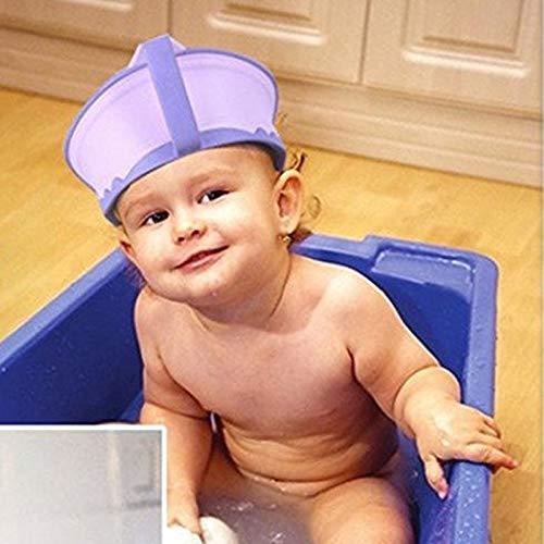 Duschhaube Kinder Badekappe Shampoo Schutz Verstellbarer Baby Badekappe Bade Schutz Kopf Dusche Wasser Abdeckung einstellbar f/ür 0-6 Jahre Kids f/ür Babypflege