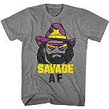 Macho Man 1980's WWF Heavyweight Wrestler Savage Adult T-Shirt Tee
