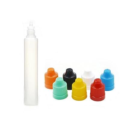 5 AngelaKerry/10/20 piezas 30 ml botella de plástico con cuentagotas unicornio punta