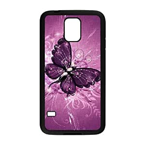 Hard Shell Diy Case Butterfly Cover For Samsung Galaxy S5 i9600 [Pattern-1]