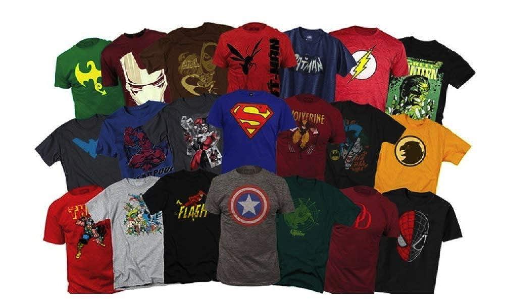 8455f2fb6 Amazon.com: Marvel Men's Marvel Superhero T-Shirts Mystery Deal of 2  (Different) by PrimeTrading: Clothing