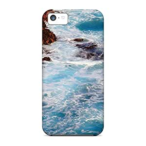 Case Cover Turbulent Waves/ Fashionable Case For Iphone 5c