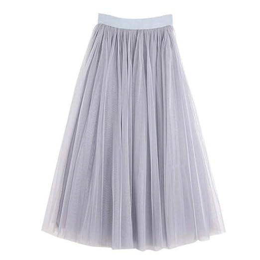 Falda de tul Bibao para mujer, falda de tutú plisada, larga, de ...