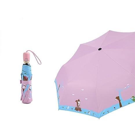 ENCOCO Paraguas de sol y lluvia niños, paraguas ligero, diseño de ...