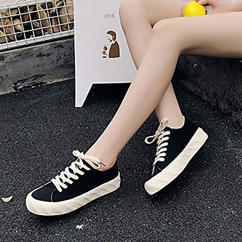 US7 Comoda Punta Estate Black Nero Donna Per EU38 Piatto 5 Tonda Sneakers TTSHOES Scarpe 5 Di Bianco CN38 UK5 Corda 6zwqYX