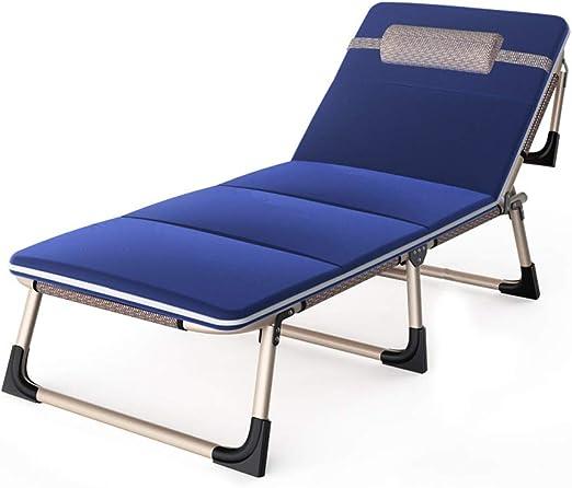 UCYG Cama Canapé Abatible Plegable para Invitados,Armadura De Metal Butaca Sofa con Colchón 1 Plazas para Camping Piscina Jardín, 250 Kg De Carga, 193x63x30cm: Amazon.es: Hogar