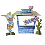 Talking Tables Cuban Fiesta Colorful Card Treat Stand Snack Bar Centerpiece for a Birthday Party or Tropical Celebration, Multicolor