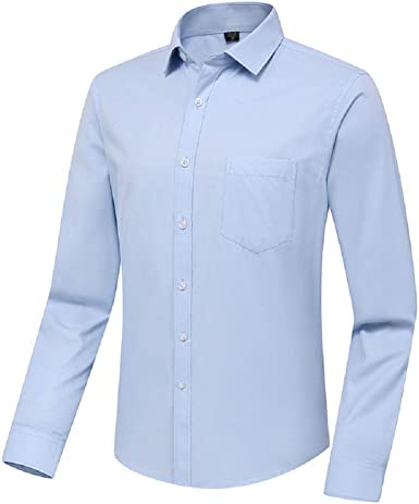 Natsuki - Camisa Casual para Hombre, Personalizable, Bordado, Tradicional, Iniciales, Albornoz, Mango (Derecha), Ajuste Fino, no Necesita Planchado: Amazon.es: Ropa y accesorios