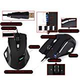 Gaming Mouse, UtechSmart Pluto 8200 DPI High Precision Programmable Laser Gaming Mouse