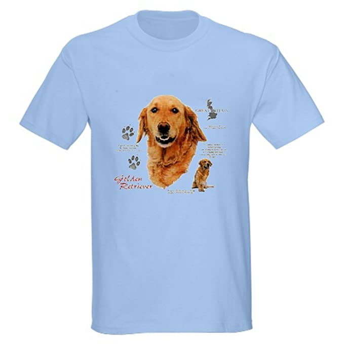 cc1a169439 Amazon.com: Golden Retriever Uni-Sex T-Shirt (Adult Medium, Light Blue):  Clothing