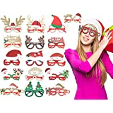 KIDPAR 16 PCS Holiday Glasses, Christmas/Thanksgiving Party Glasses Frame for Kids Adults, Fit All Sizes, Fun for…