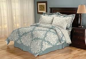Sanders Home Collection Sonota Reversible 8-Piece Queen Bed in a Bag Bedding Set, Glacier