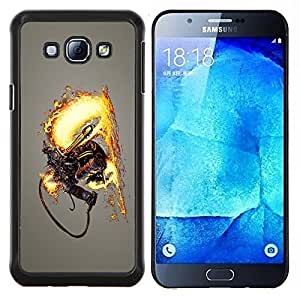 LECELL--Funda protectora / Cubierta / Piel For Samsung Galaxy A8 A8000 -- Lanzallamas Skeleton Warrior --