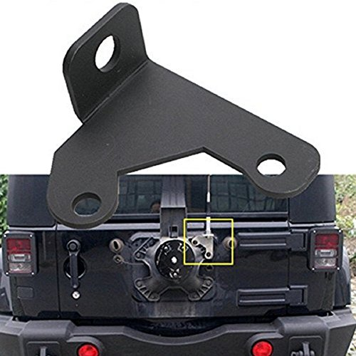 KaTur Jeep Spare Tire CB Antenna Mount for 2007-2015 Jeep Wrangler Jk 2/4 Tail Door