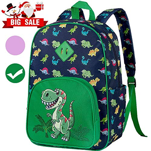 "Preschool Backpack for Boys, 15"" Dinosaur Toddler School Bag - Kids Bookbag"