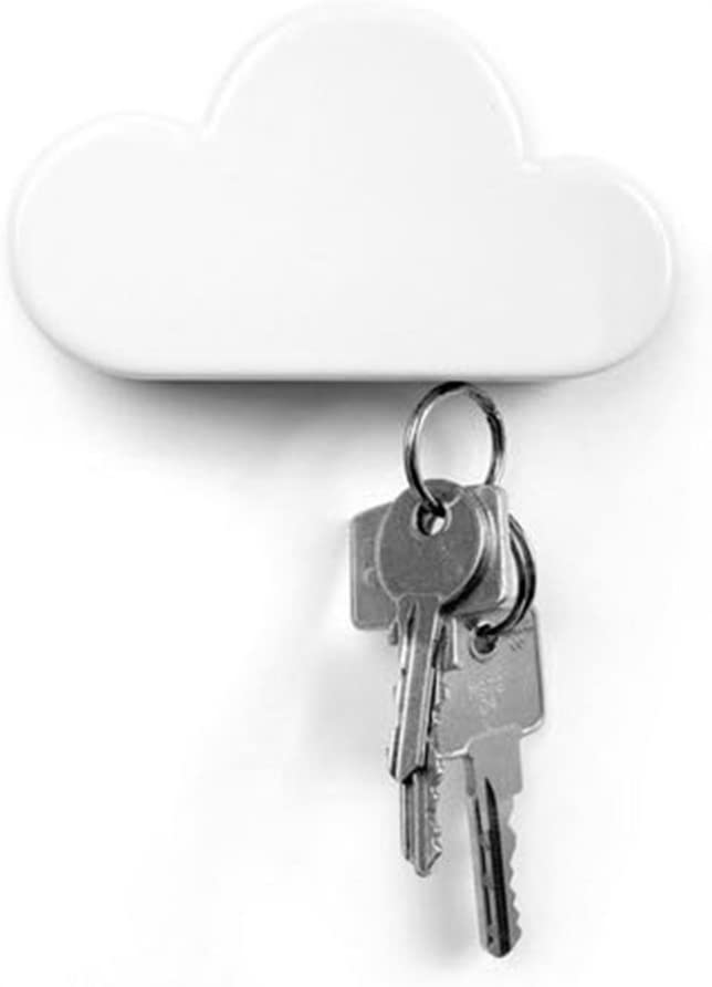QTMY White Cloud Magnetic Wall Key Holder (White)