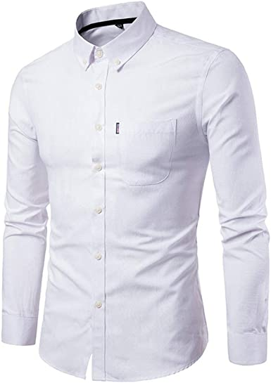 Camisa De Hombre Slim Manga Festiva Ropa Comfort Fit Larga sobre Tallas Camisa De Hombre Business