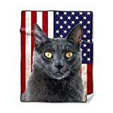 Custom Blankets with Cats %2D Russian Bl