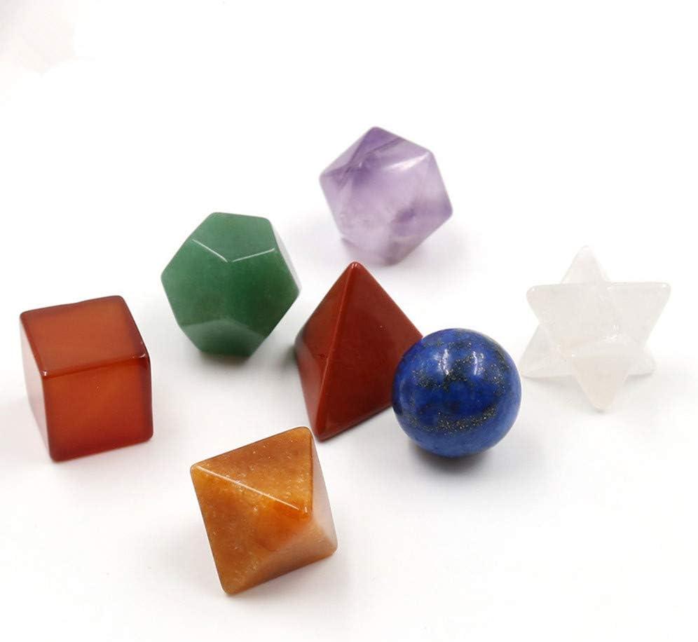 Conjunto piedras geometría sagrada