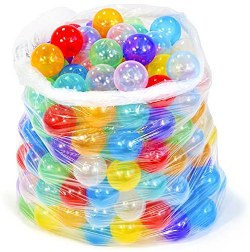 200 Non-Toxic Non-Recycled Quality Crush Proof Invisiball Play Pit Ball