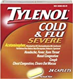 Tylenol Cold and Flu Severe, 24-Count Caplets (Pack of 2)