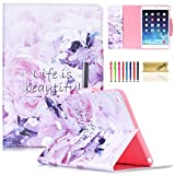 ipad air model number - iPad Air Dteck Colorful Painting Magnetic Closure Design Wallet Case