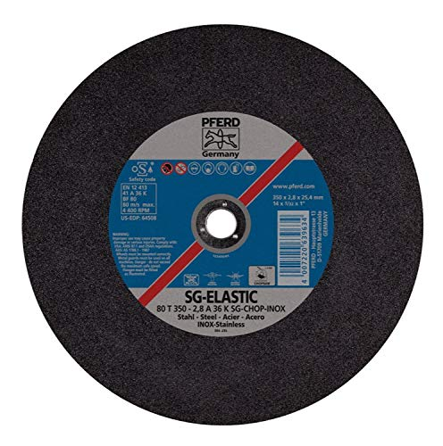 PFERD 64508 14'' x 3/32'' Chop Saw Wheel, 1'' AH A 36 K SG-CHOP INOX (10pk) by PFERD (Image #1)