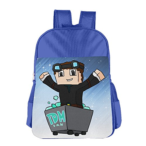 FUOALF Diamond Minecart Kids Children Boys Girls Shoulder Bag School Backpack (Philadelphia Flyers Halloween Costumes)