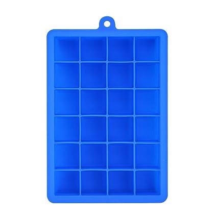 cubetti ghiaccio silicone  ShareWe Stampo Cubetti Ghiaccio in Silicone 24 Cubetti Vaschette ...