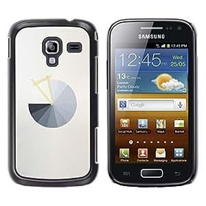 LECELL--Funda protectora / Cubierta / Piel For Samsung Galaxy Ace 2 I8160 Ace II X S7560M -- Pie Chart Grey Abstract Minimalist Grey --