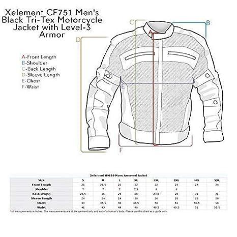 Amazon.com: Xelement CF751 - Chaqueta de moto triple para ...