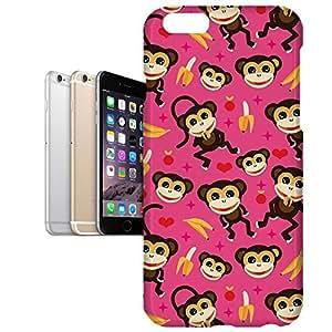 Phone Case For Apple iPhone 6 Plus - Monkeys Go Bananas Pink Hardshell Lightweight