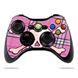 Protective Vinyl Skin Decal Cover for Microsoft Xbox 360 Controller wrap sticker skins Pink Bow Skull