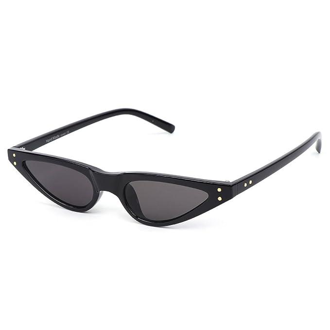 Amazon.com: mimgo triángulo anteojos de sol pequeñas mujeres ...