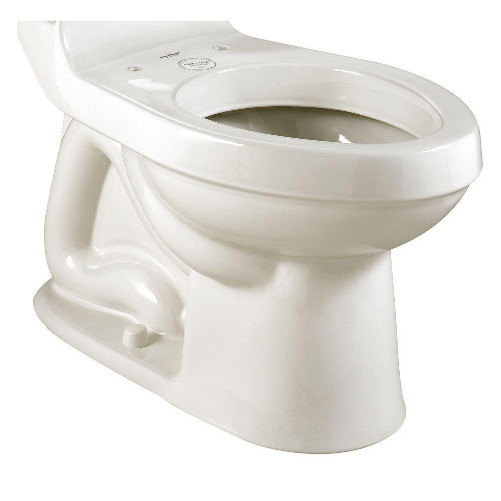 American Standard 3225.016.020 Champion Right Height Elongated Toilet Bowl with Bolt Caps, White (Bowl Only)
